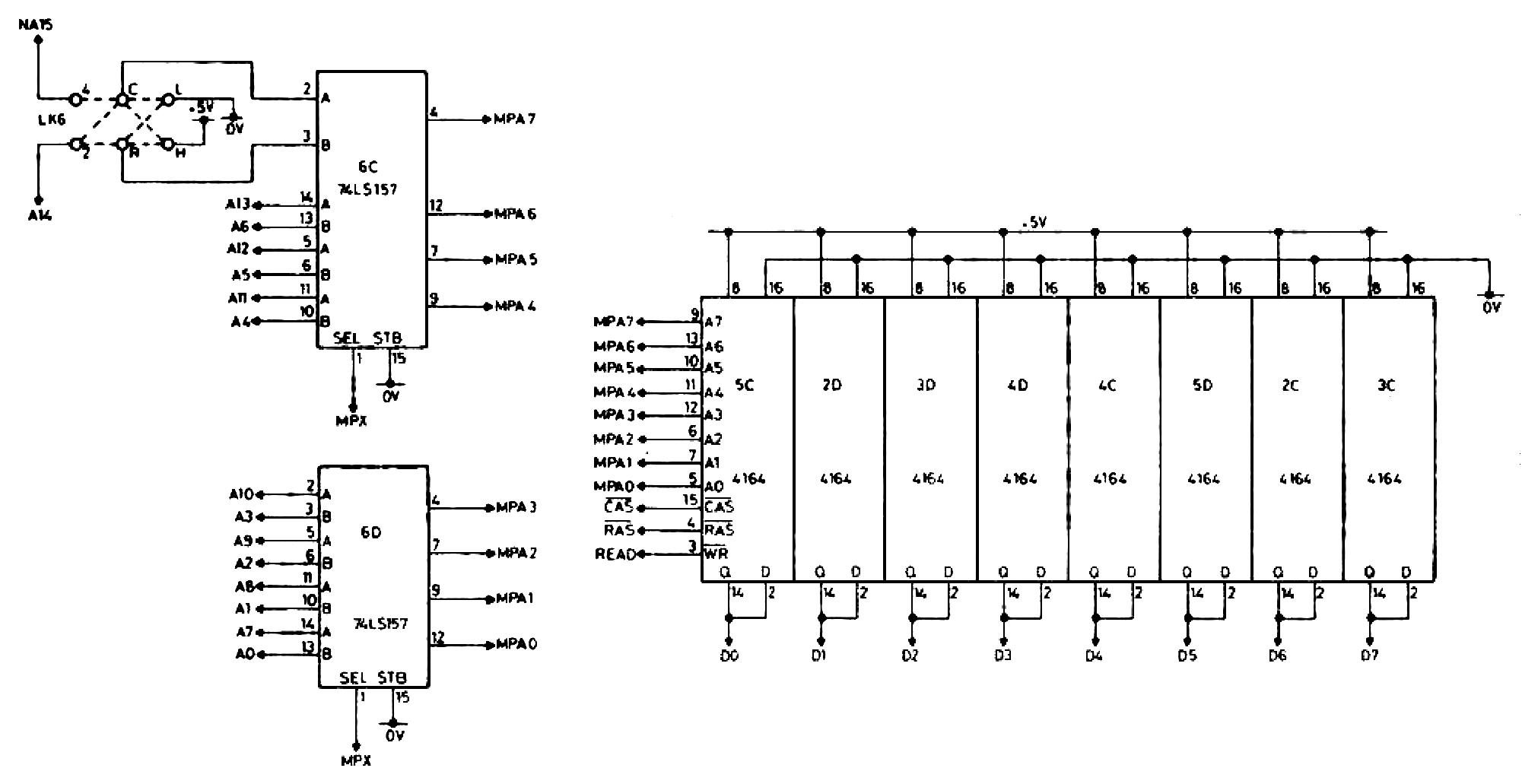 memotech mtx 512 dram selection decoding. Black Bedroom Furniture Sets. Home Design Ideas